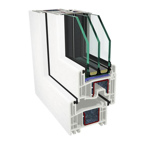 GEALAN S8000 IQ 6 kambaru pvc logi